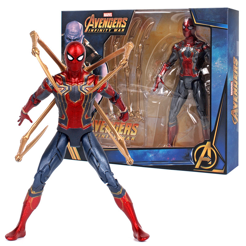 pvc flexible movable avenge Infinity war hero spider man action figure