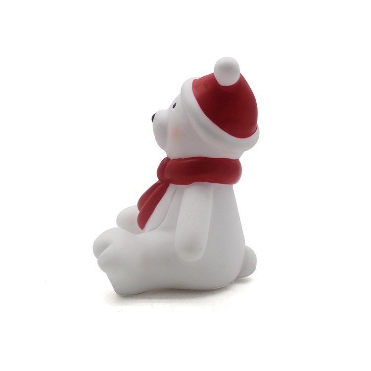 Christmas sitting bear custom resin souvenirs