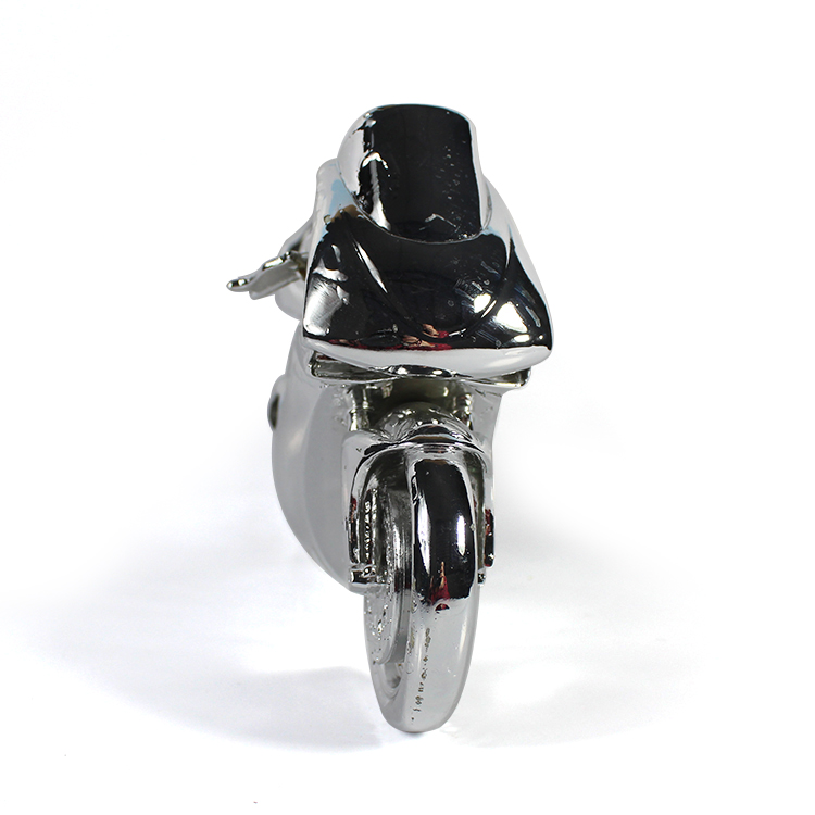 resin Electroplated Modern motorcycle sculpture