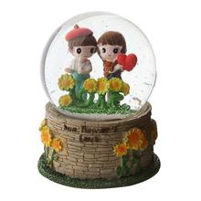 Dia100cm custom made lantern water ball sunflower snow globe with music