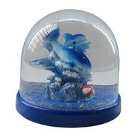 Artificial snow globe sea world