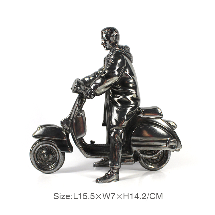factory resin motorcycle sculpture Electroplated