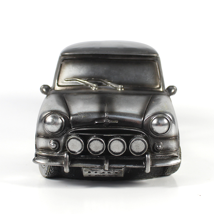 Wholesale cheap top-gifts vintage decorative electroplate resin car statue