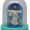 Custom handmade gifts novelty jesus statue mini resin keychain snow globe