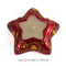 Cheap custom christmas decor four color gifts star shaped ceramic candle jars