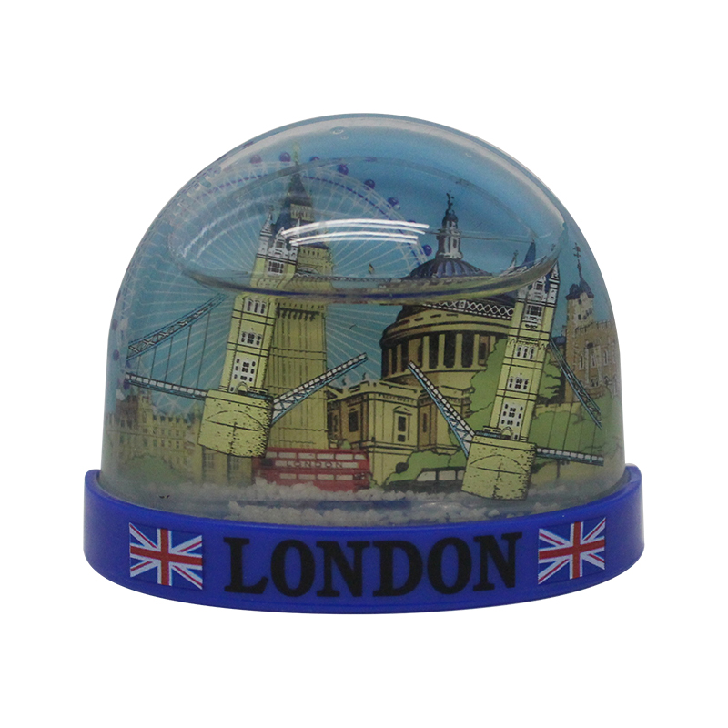 Hot sale custom plastic snow globe high quality souvenir fridge magnet manufacturers