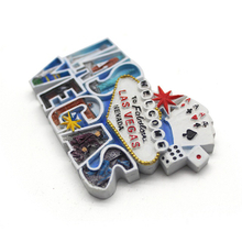 Resin 3D fridge magnet souvenir for tourist home decoration