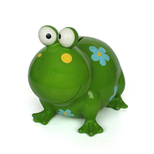 Hot Sales Cute resin frog Shaped Coin Box Piggy Bank