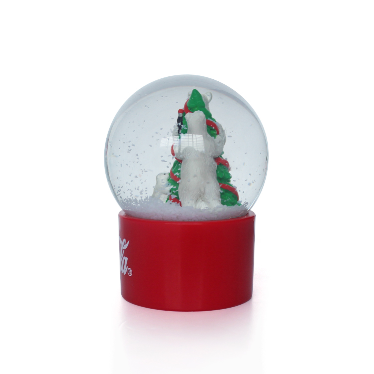 snowman and trees water globe resin crafts