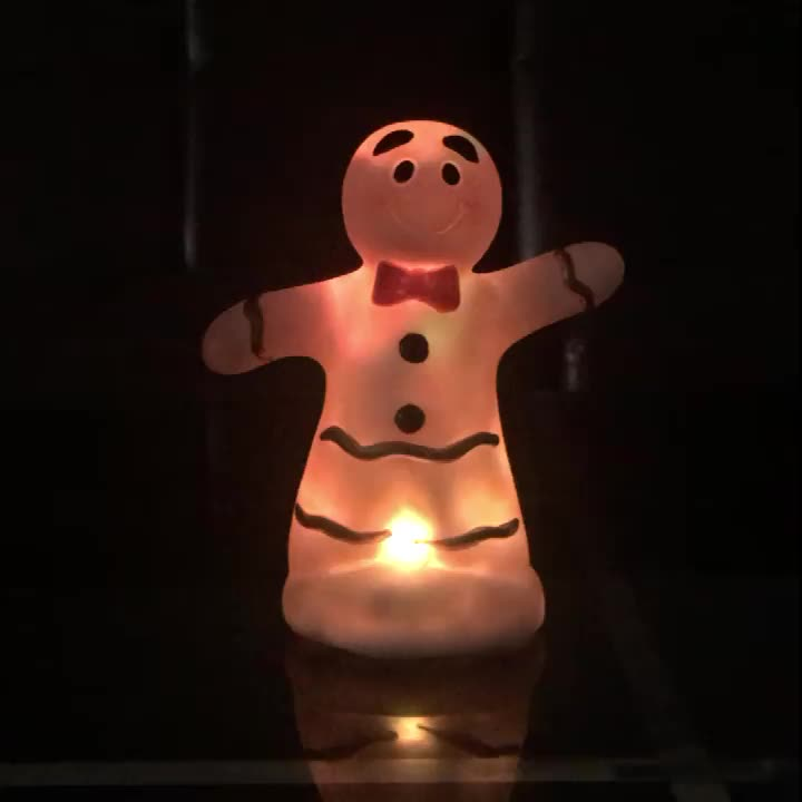 colorful snowman night light kids sensor lamp for Christmas toy