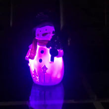 Christmas Sensor Kids Night Light Cute Snowman LED Table Lamps