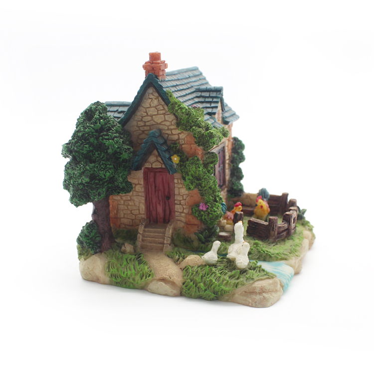 Factory direct resin model miniature house for kids