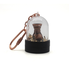 OEM Cheap Wholesale Customized Promotion Plastic Snow Globe Key Chain