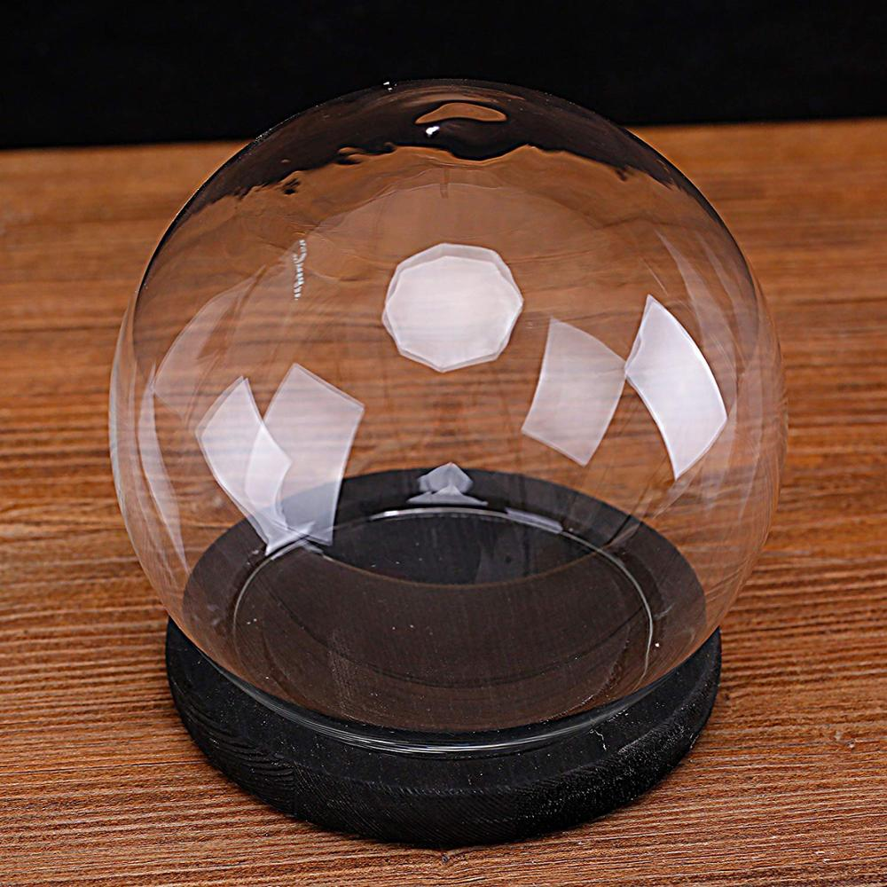 150mm 120mm empty cheap clear glass plastic snow globe