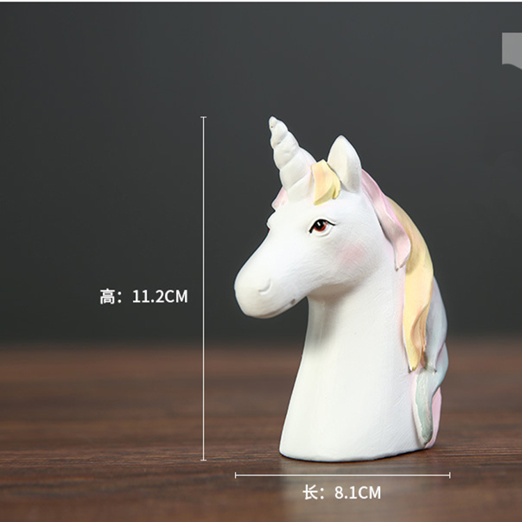 handmade 3d horse head crafts modern home decor white unicorn sculpture