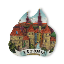 2018 New resin european tourist fridge magnet souvenir