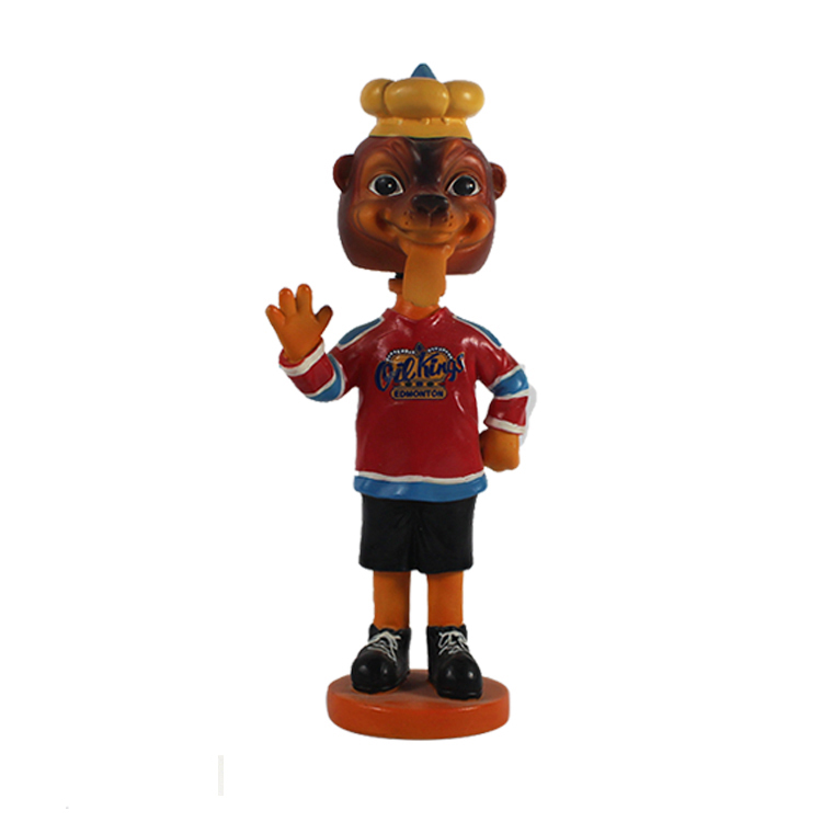 Custom resin souvenir bobble head doll for home decor