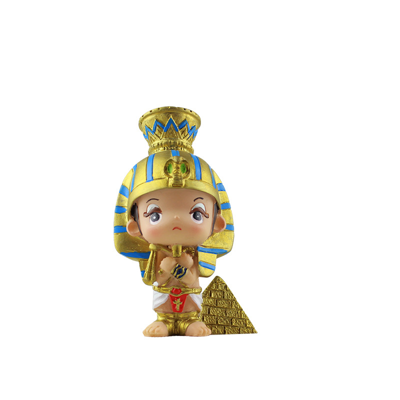 Creative souvenir decorative ornaments resin ancient egypt pharaoh statues