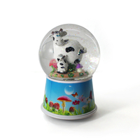 2015 electric christmas musical snow globe with blowing snow