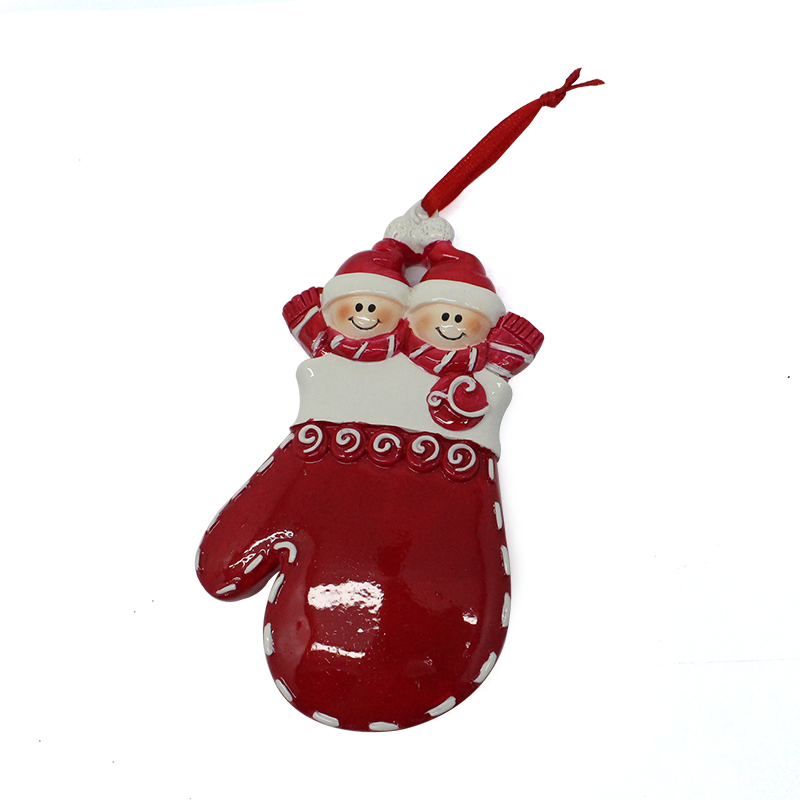 Manufacturer Resin Gloves Christmas Decorative Ornament