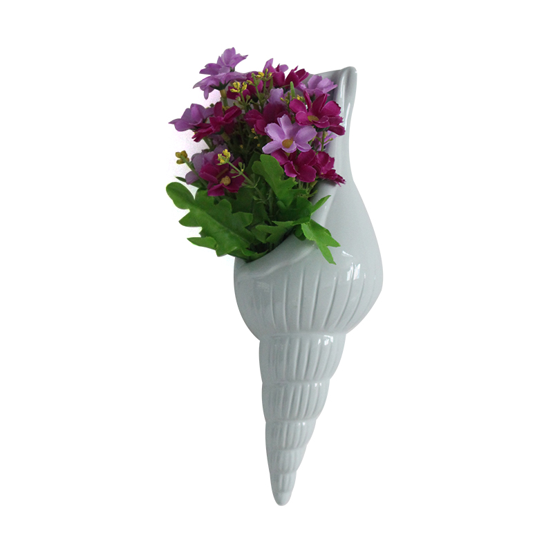 Wholesale mini resin conch shape hanging flower pots