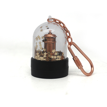 Customized Acrylic Zinc alloy Snow Globe Key Chain