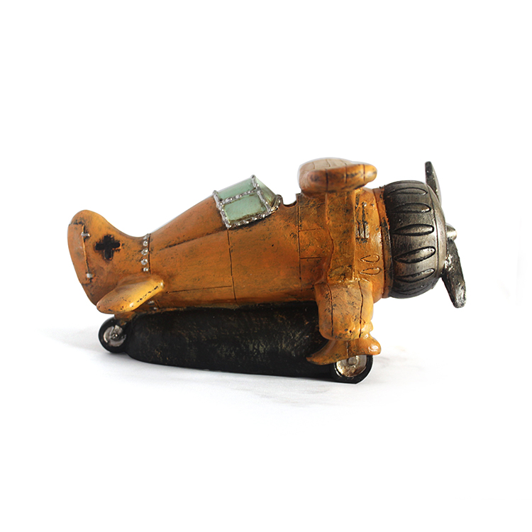 Resin custom collective home decoration souvenir antique aircraft statue