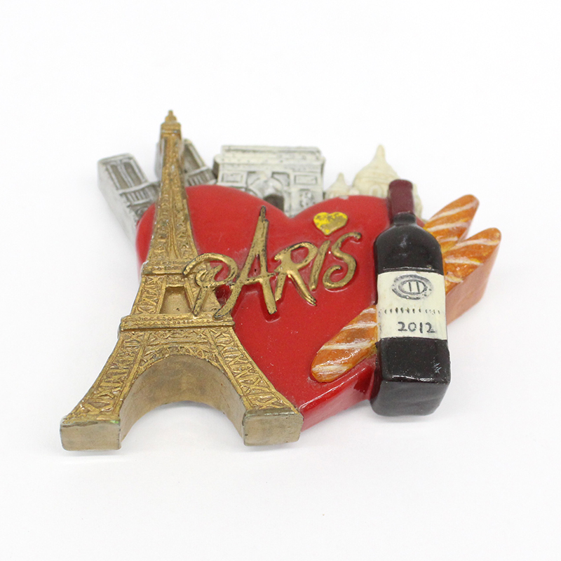 Custom resin Paris souvenir fridge magnet