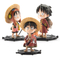 custom cute monkey d luffy statue set japanese anime 3d one piece action figure