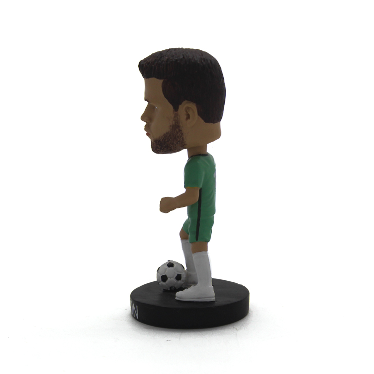 Resin custom gifts home&car decoration great Brazilian soccer player Alisson bobble head
