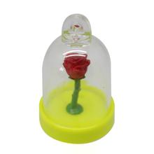 Custom plastic snow globe flower key chain for promotion gift