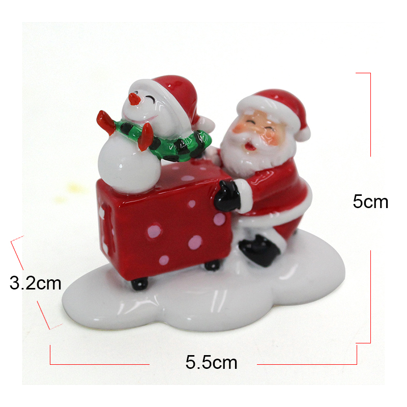 Christmas Supplies gift box Resin Claus Figurine