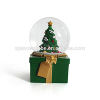 2018 cheapest christmas tree glass snow globes
